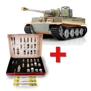 1/16 RC Tiger I Späte Ausf. unlackiert BB + Solution Box