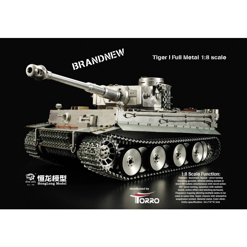 1/8 RC Tiger I Vollmetall Version BB