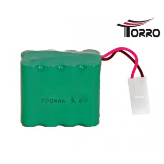 9.6 V 700 mAh Ni-Cad battery for R / C radio-controlled...