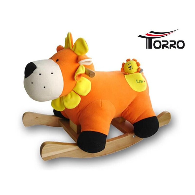 TORRO infant rocking horse *Leo* with baby and music!