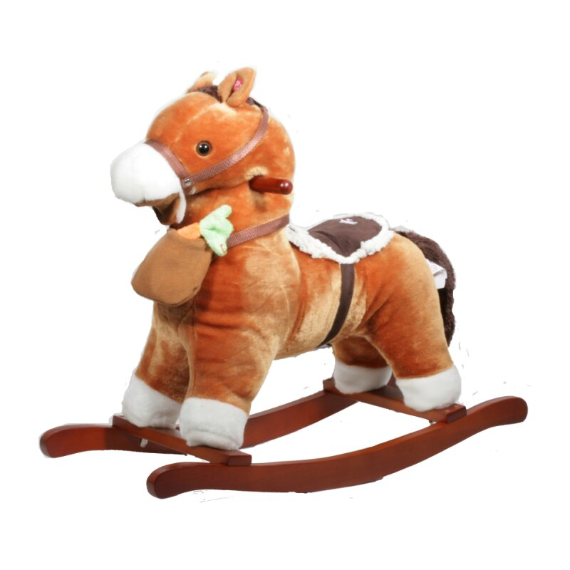 TORRO rocking horse with magnet carott, music and moveable mouth Brown
