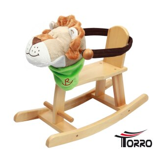 Wooden rocking animal *Kiddy Lion* with protection ring