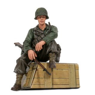 1/16 Figur U.S. Private 1th Class Sitzend