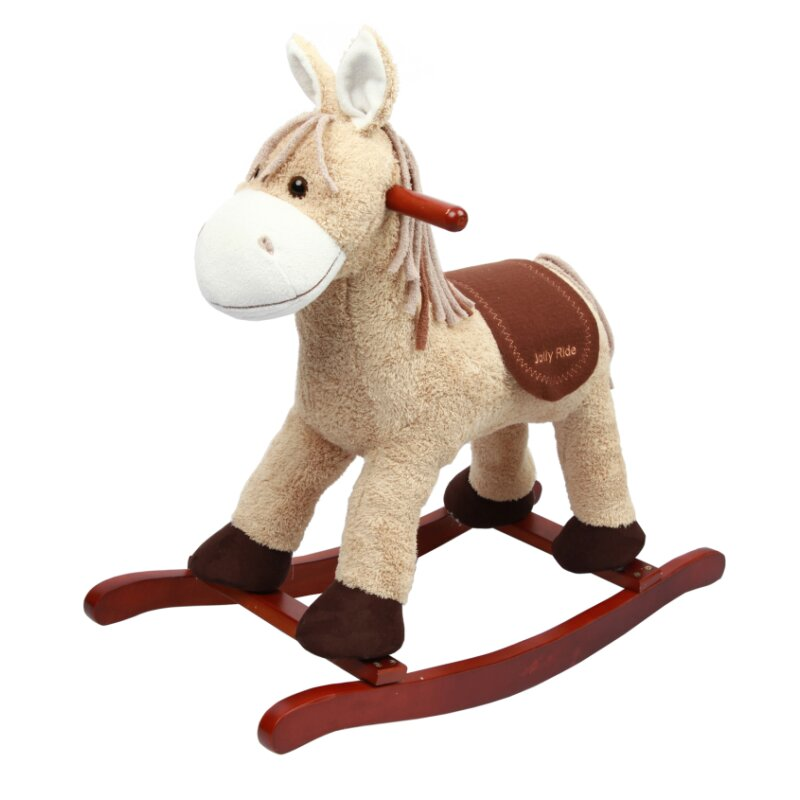 Rocking horse donkey *BLUFFY* with wobbly ears and music