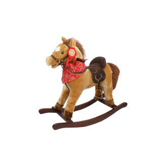 TORRO large rocking horse with sound, effects & scarf Brown color