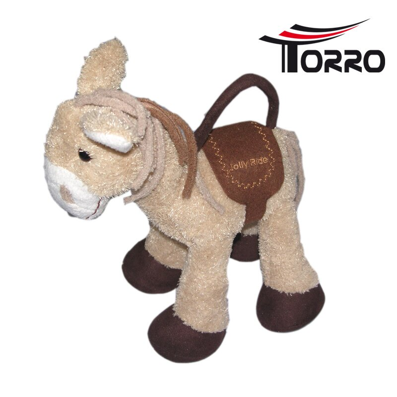 Torro Plush Horse Toy with grip and secret hiding