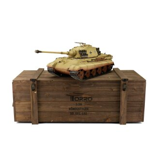 TORRO 1/16 RC Kingtiger Tiger 2 IR-Battlesystem Desert Color