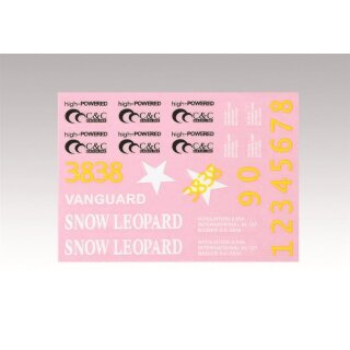 M26 Pershing Snow Leopard - spare part - Decal-Set