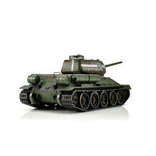 T34/85 RC tank 2.4 GHz 1/16 Profi-Metall IR green