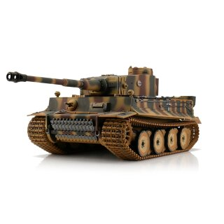 Tiger I Tank 1:16 Scale summer color in the new 2.4 GHz version with metal chassis