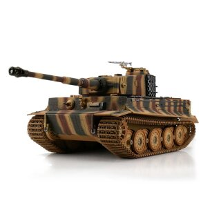 Tiger I Tank 1:16 Scale Sommertarn color in the new 2.4 GHz version with metal chassis