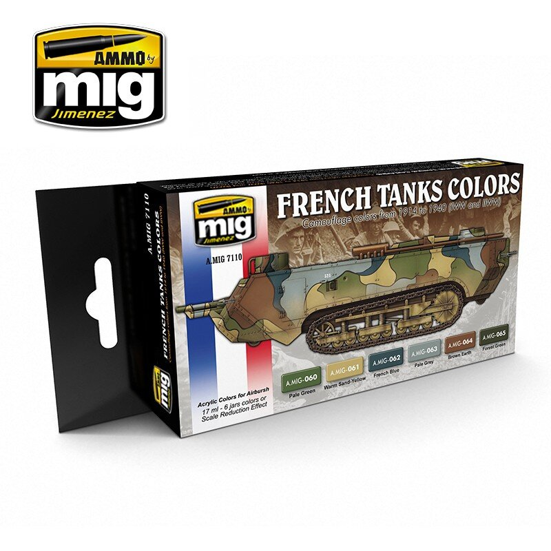 I WW & II WW FRENCH CAMOUFLAGE COLORS