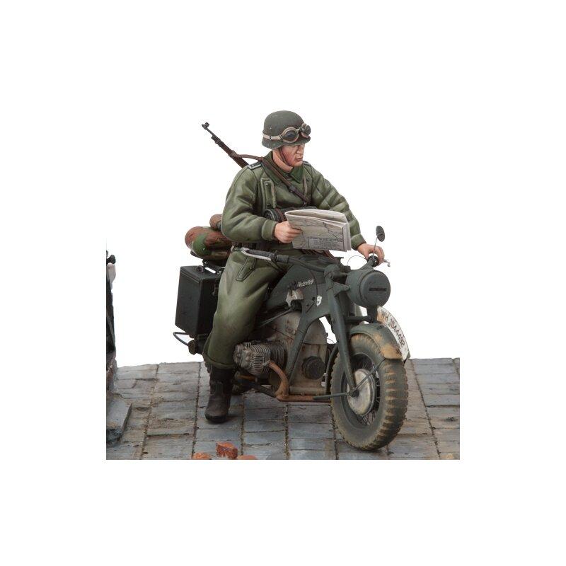 1 16 bausatz motorrad z ndapp ks 750 1 solo mit soldat. Black Bedroom Furniture Sets. Home Design Ideas